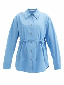 Thom Browne - Striped Cotton-piqué Roll-neck T-shirt - Womens - Navy