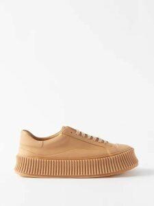 Msgm - Leopard-print Ruffle-trim Cotton-poplin Blouse - Womens - Leopard