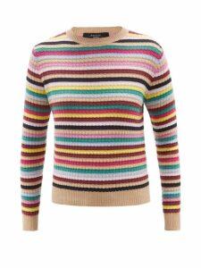 MSGM - Python-effect Patent Ruffled Blouse - Womens - Pink