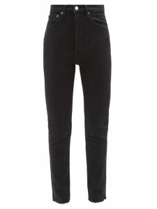 Msgm - Tie-back Denim Blouse - Womens - Indigo