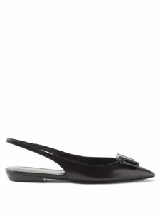 Bottega Veneta - Long Sleeved Ribbed Knit Jersey Bodysuit - Womens - Dark Brown