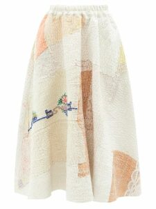 Diane Von Furstenberg - Agnes Sequin-striped Silk Top - Womens - Green Multi