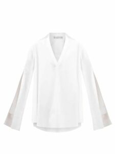 Msgm - Logo-intarsia Cardigan - Womens - Black Multi