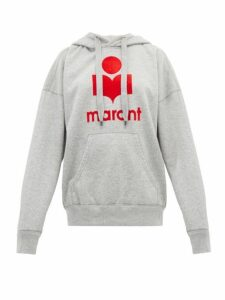 Isabel Marant Étoile - Mansel Logo Printed Jersey Hooded Sweatshirt - Womens - Grey