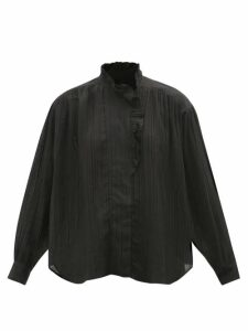 The Row - Dylia Satin Blouse - Womens - Navy