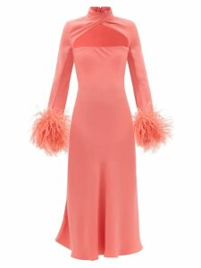 Peter Pilotto - Pussy-bow Satin Blouse - Womens - Navy