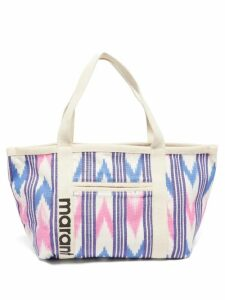 Saloni - Lily One-shoulder Floral-print Silk Dress - Womens - Red Multi