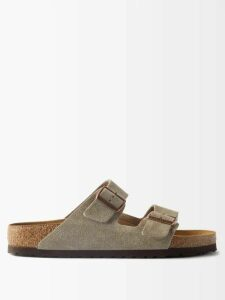 Chloé - Sonnie Raised Sole Mesh And Suede Trainer Sandals - Womens - Grey Multi