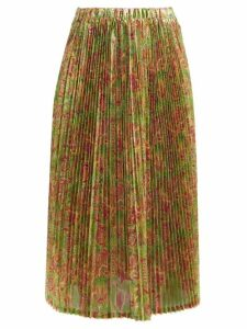 Sophia Webster - Dina Crystal Strap Python Effect Leather Flats - Womens - Python