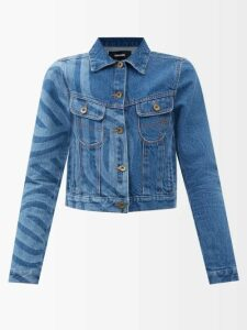 Prada - V Cut Suede Platform Sandals - Womens - Dark Beige