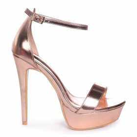 ALESHA - Rose Gold Nappa Platform Stiletto Heel
