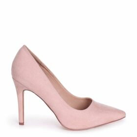 COLETTE - Nude Suede Classic Court Shoe with Stiletto Heel