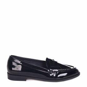 LATASHA - Black Patent Classic Slip On Loafer