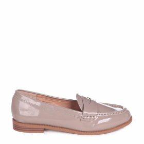 LATASHA - Concrete Patent Classic Slip On Loafer