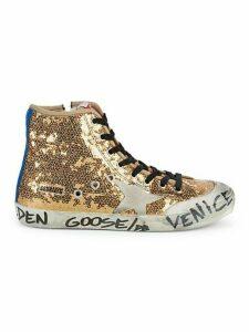 Francy Glitter High-Top Sneakers