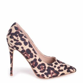 ASTON - Natural Leopard Suede Classic Pointed Court Heel