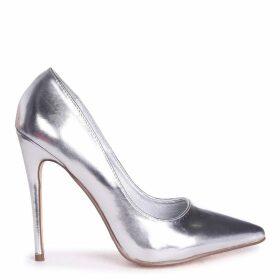 ASTON - Silver Metallic Classic Pointed Court Heel