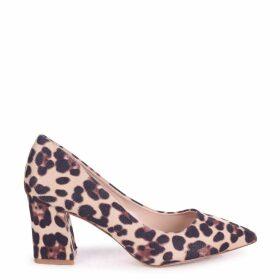 MAGIC - Leopard Print Block Heel Court Shoe