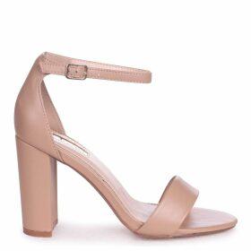 NELLY - Mocha Nappa Suede Single Sole Block Heel