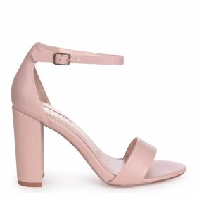 NELLY - Nude Nappa Single Sole Block Heel
