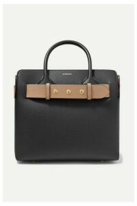 Burberry - Small Belted Textured-leather Tote - Black
