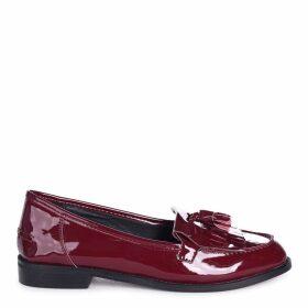ROSEMARY - Burgundy Patent Classic Slip On Loafer