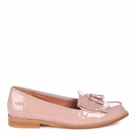 ROSEMARY - Mocha Patent Classic Slip On Loafer