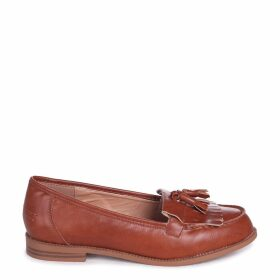 ROSEMARY - Tan Nappa Classic Slip On Loafer