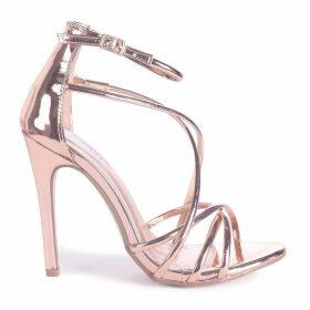 PALOMA - Rose Gold Strappy Stiletto Heel