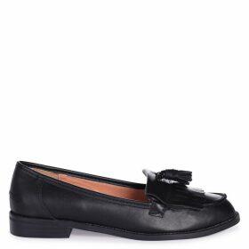 ROSEMARY - Black Nappa Classic Slip On Loafer