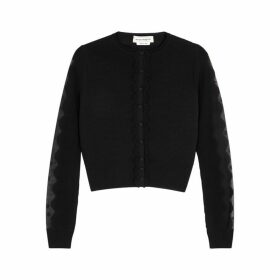 Alexander McQueen Black Stretch-knit Cardigan