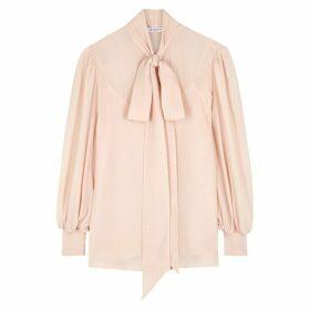 Givenchy Pink Silk Chiffon Blouse