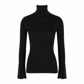 Proenza Schouler Black Silk And Cashmere-blend Jumper