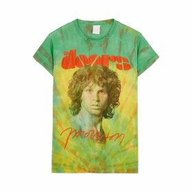 MadeWorn The Doors Morrison Tie-dye Cotton T-shirt
