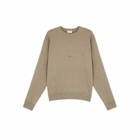 Saint Laurent Taupe Star-print Jersey Sweatshirt