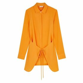 Rosetta Getty Orange Tie-front Cady Shirt