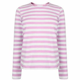 Ganni Striped Long Sleeve T Shirt