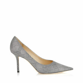 LOVE 85 Silver Prince of Stars Glitter Pointy Toe Pumps