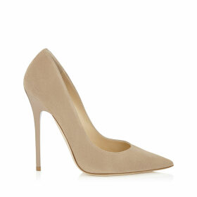 ANOUK Nude Suede Pointy Toe Pumps