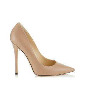 ANOUK Ballet Pink Liquid Leather Pointy Toe Pumps
