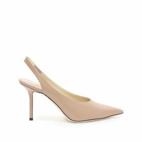 IVY 85 Ballet Pink Liquid Leather Slingback Heel