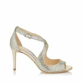 EMILY 85 Champagne Glitter Fabric Sandals