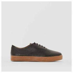 Leather Trainers with Honey Coloured Sole