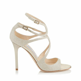 LANG Platinum Ice Dusty Glitter Sandals