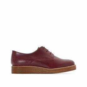 Leather Wedge Heel Brogues
