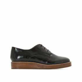 Leather Wedge Heel Brogues