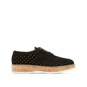Malou Suede Leather Platform Brogues