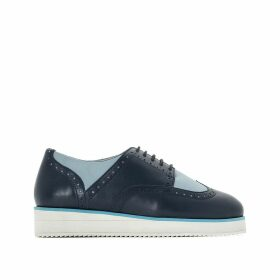 Wide Fit Brogues with Platform