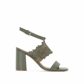 Leather Sandals with Laser Cut Strap