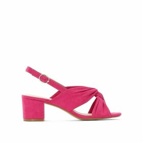 Wide Fit Sandals with Crossover Straps
